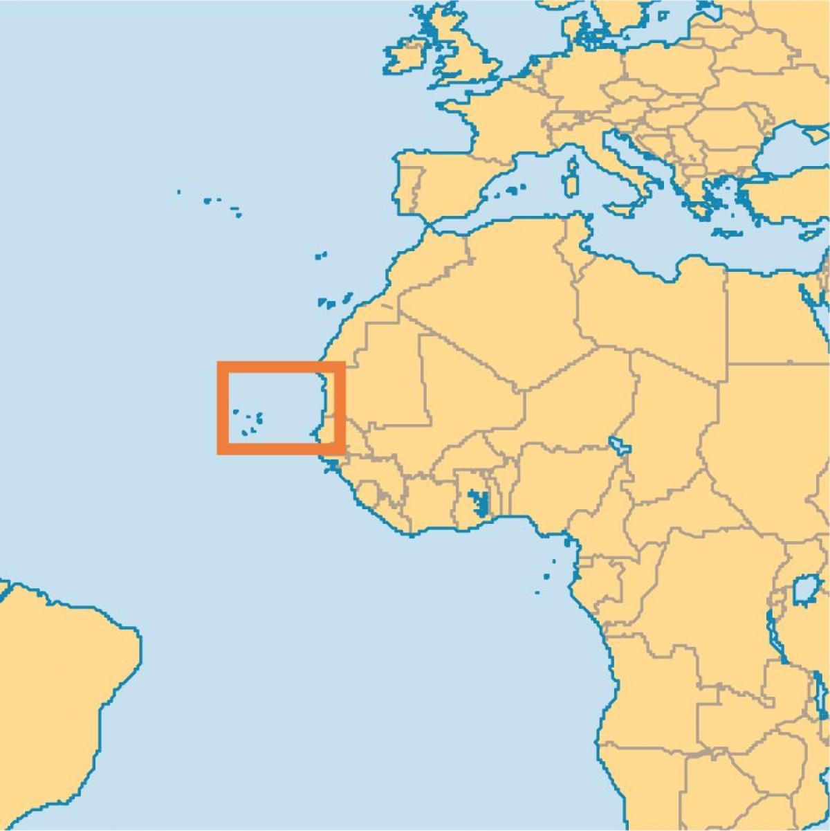 Kap Verden Saarilla Maailma Kartta Nayttaa Kap Verden