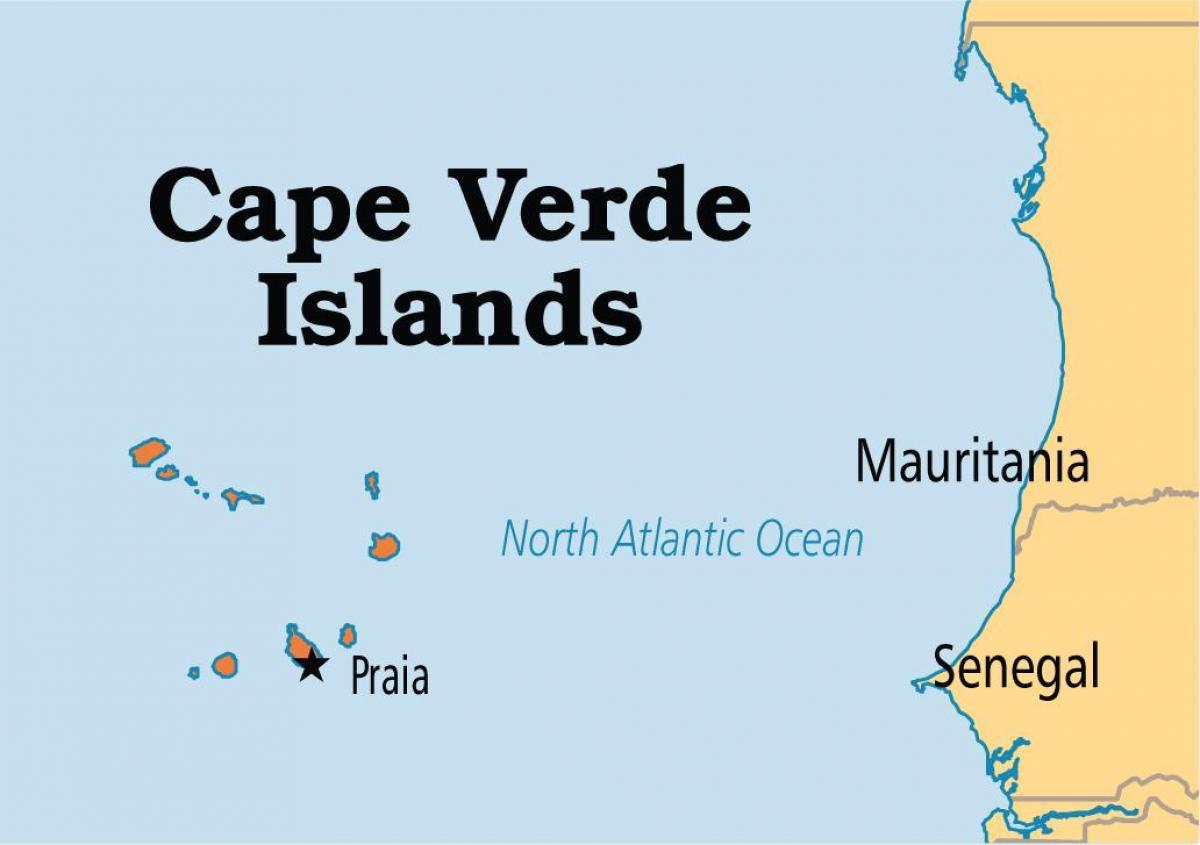 Kartta Osoittaa Kap Verden Saaret Kartta Kartta Osoittaa Kap