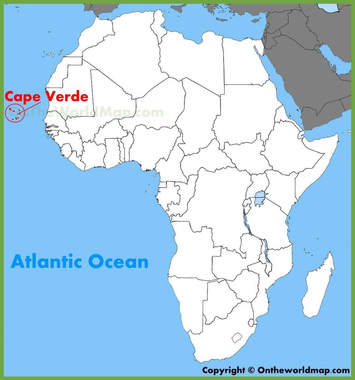 Kartta Sal Kap Verde Sal Cabo Verde Kartta Lansi Afrikka