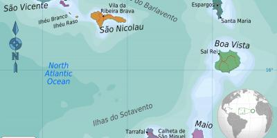 Cabo Verde Cape Verde Kartta Kartat Cabo Verde Kap Verde